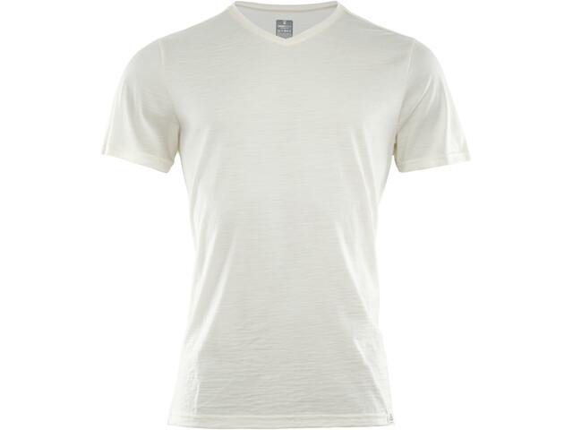 Aclima LightWool V-kauluksinen T-paita Miehet, nature